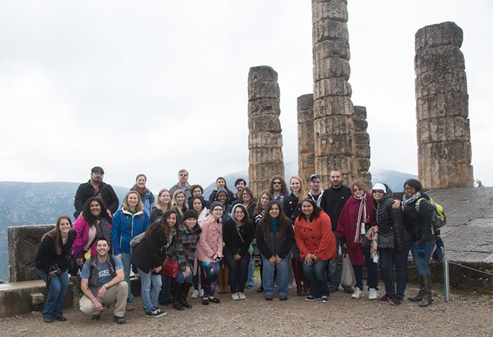 SCSU students at Delphi, Greece