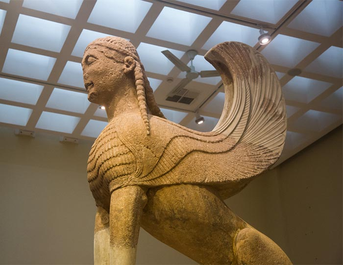 Large Sphinx of Naxos at the Delphi Museum.