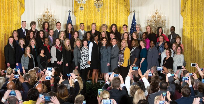 Alumni Counselor with First Lady Michelle Obama