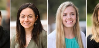 Four student recipients of the Henry Barnard Distinguished Student Award