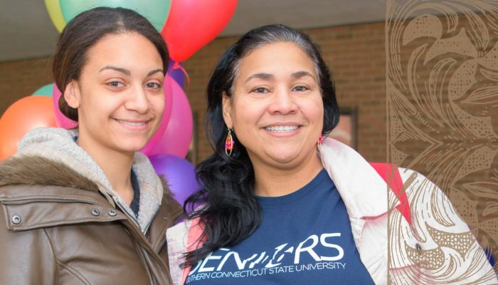 Mother/Daughter commencement candidates Elizabeth Reyes and Angélique Quiñones.