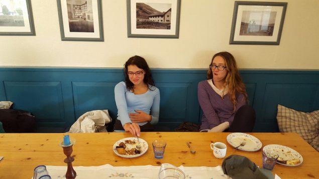Alexa and Janee at the cake buffett