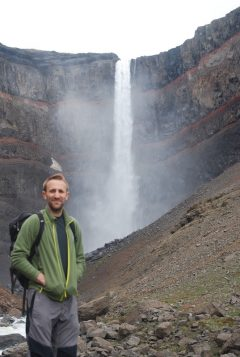Tom at Hengifoss