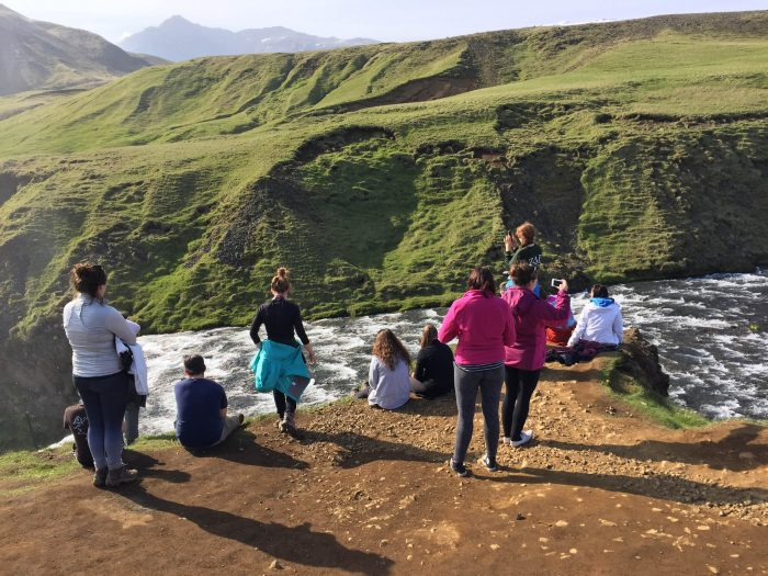 Students at Iceland