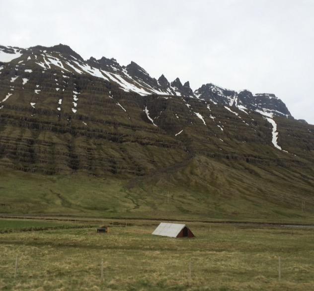 Striated Mountainside