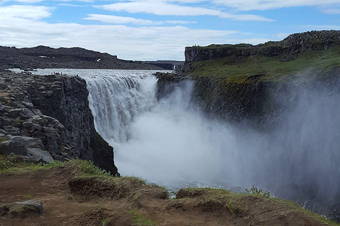 Dettifoss, a powerful waterfall in Northeastern Iceland.
