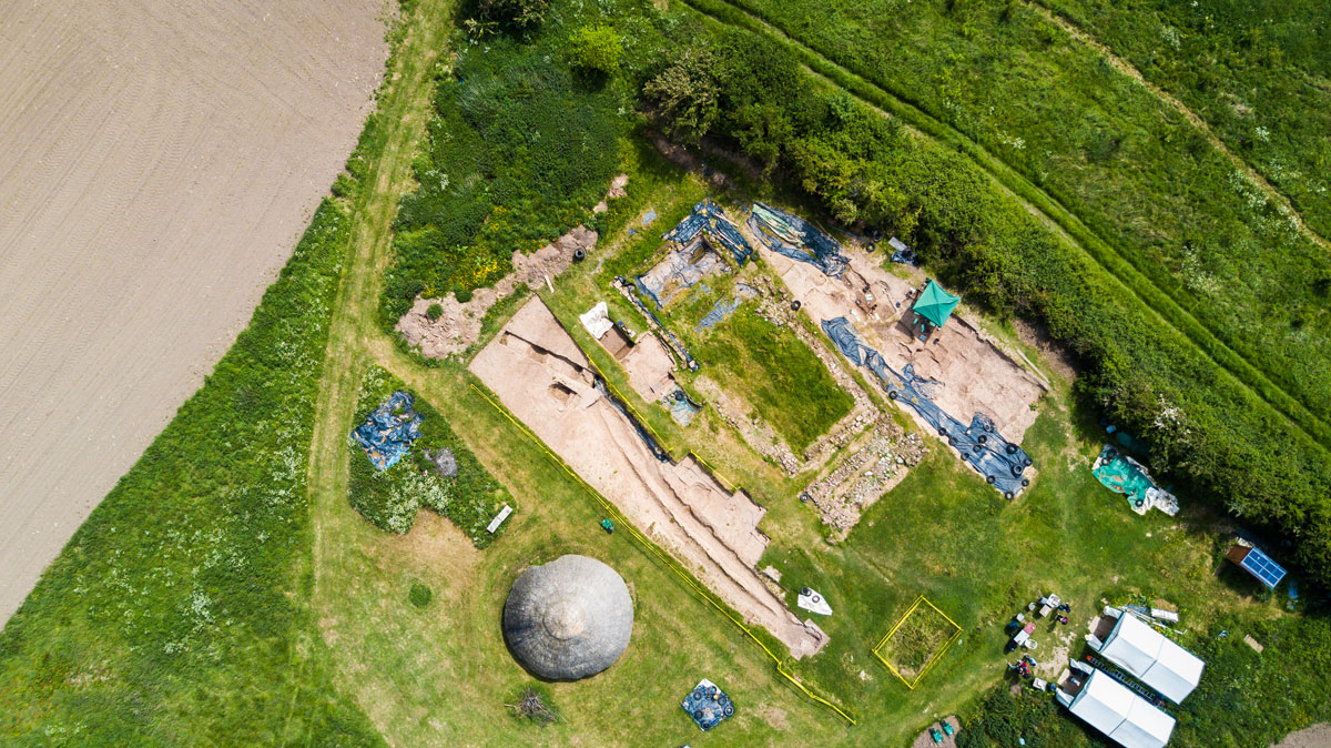 overview of LJMU dig at Chester, England