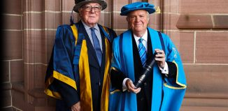 Larry DeNardis receives honorary fellowship from Liverpool John Moores University