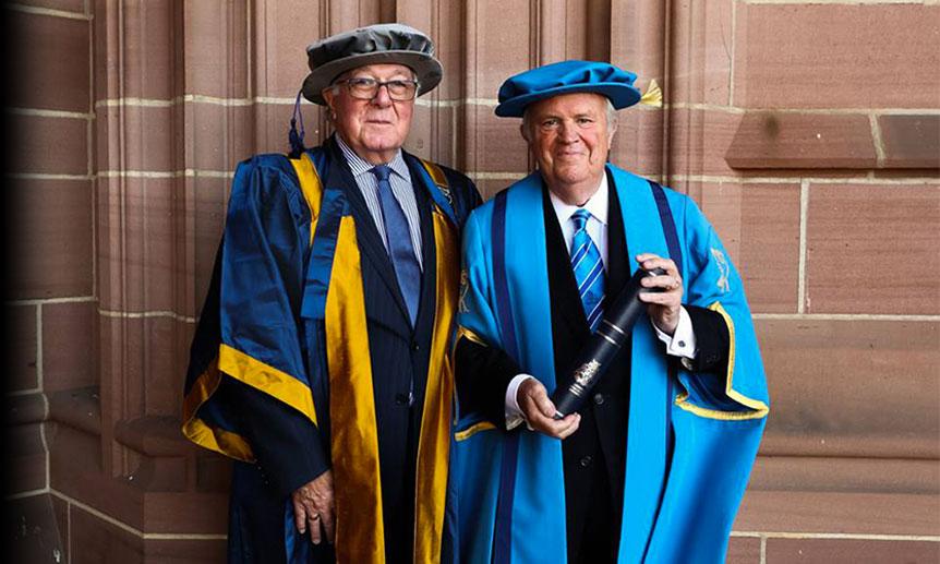 Larry DeNardis receives honorary fellowship from Liverpool John Moores University