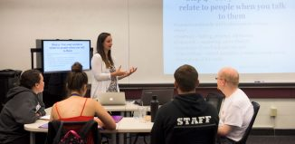 Chapel Haven students and SCSU students in Communication Disorders class
