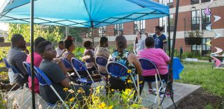 Garden class with CARE at SCSU Community Garden