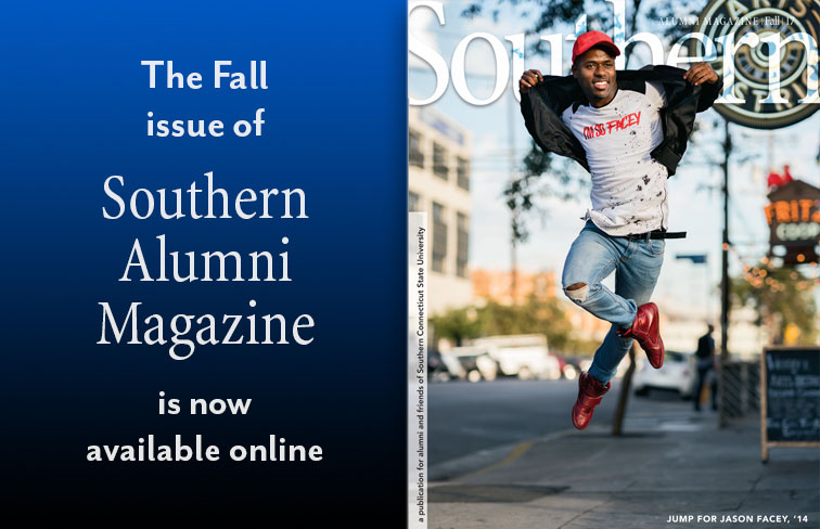 Cover graphic for Southern Alumni Magazine, Fall 2017 issue