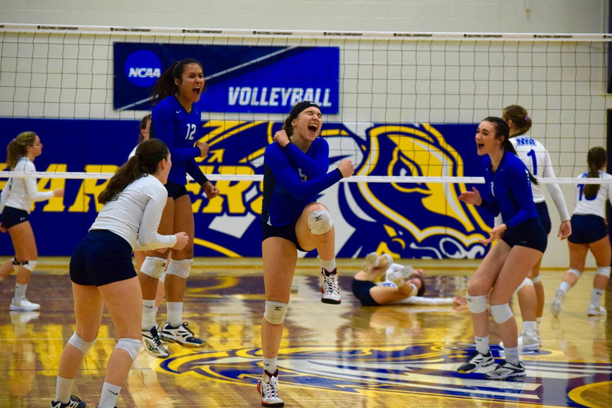 volleyball team wins first NCAA tournament game
