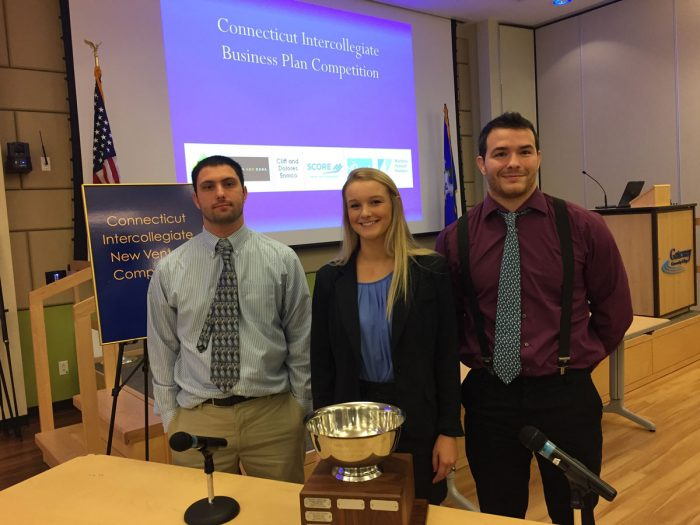SCSU students at the Connecticut Intercollegiate New Venture Competition 2017