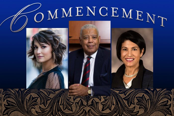 SCSU Commencement speakers 2019: Milana Vayntrub, Michael R. Taylor, Lynn M. Gangone