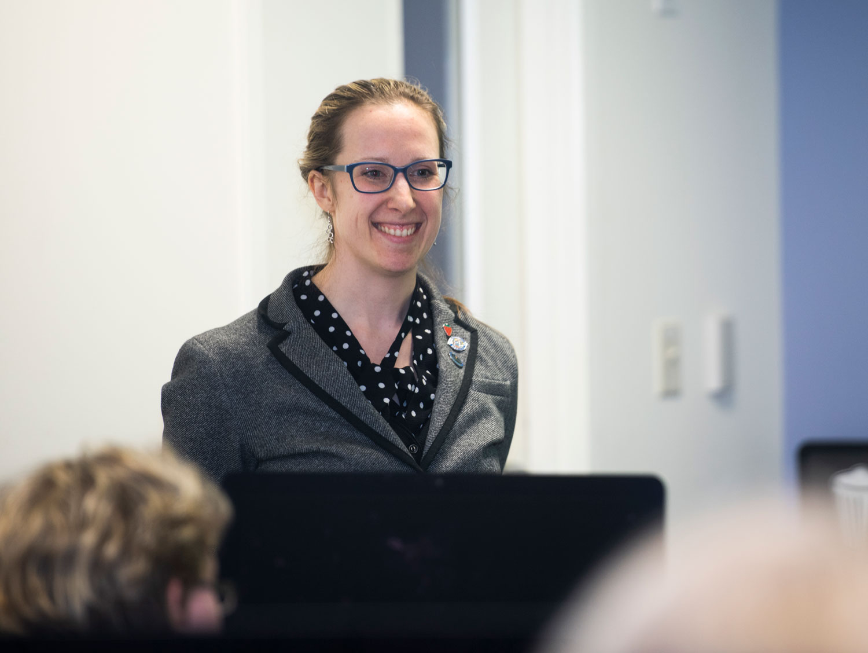 SCSU assistant professor of public health. Victoria Zigmont
