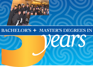 Graphic for Bachelor's and Master's Degrees in 5 years
