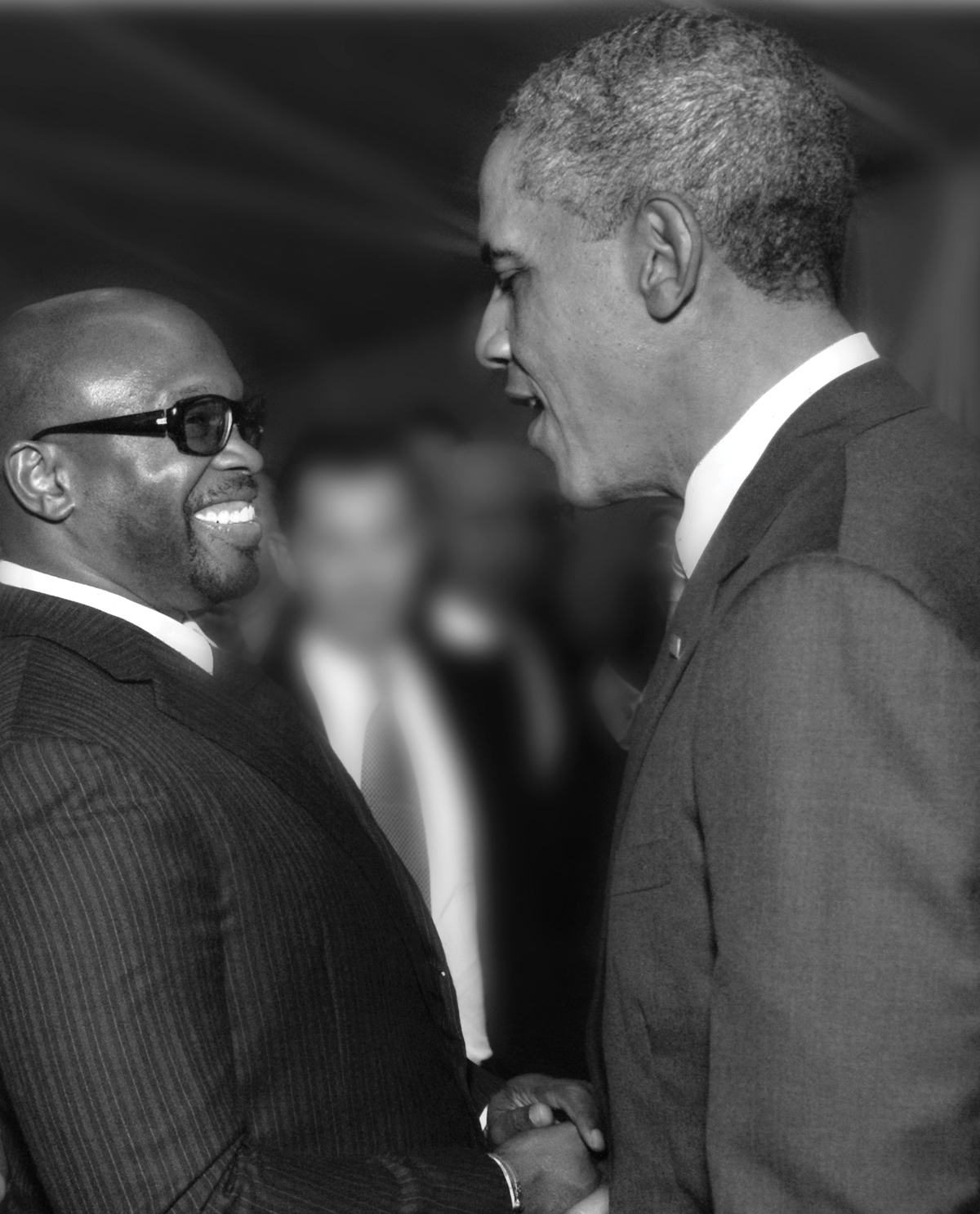 Chaz Guest shaking hands with President Barak Obama