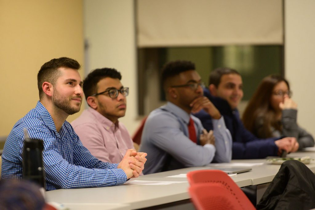 Students in SCSU Accounting class, School of Business