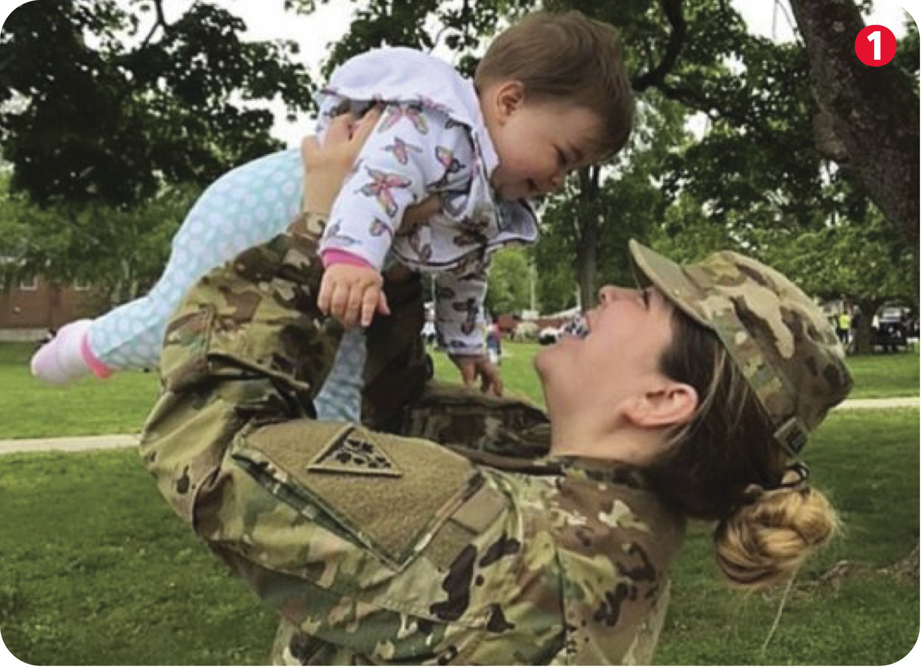 SCSU student and Army National Guard member Renee Villarreal with baby