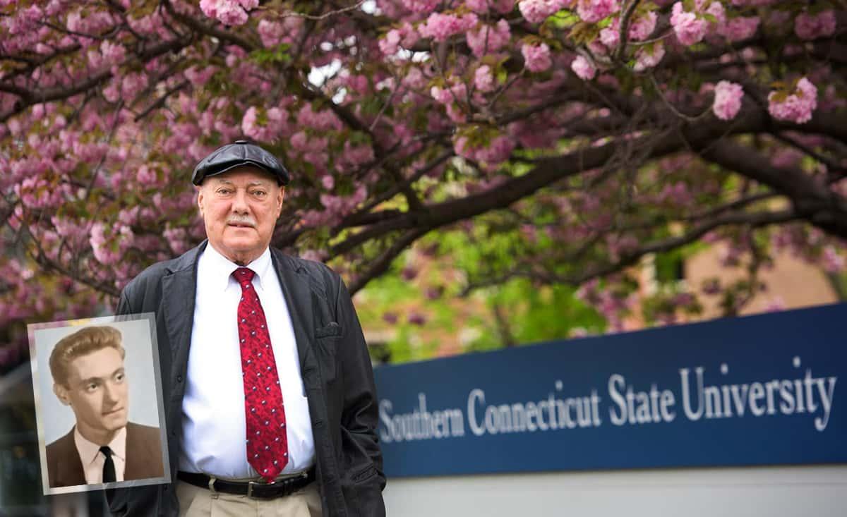 MFA student William Conlon, in 1960 and 2016