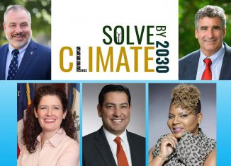clockwise from top left: SCSU President Joe Bertolino; UConn President Thomas Katsouleas; Shantè Hanks, Deputy Commissioner to the Connecticut