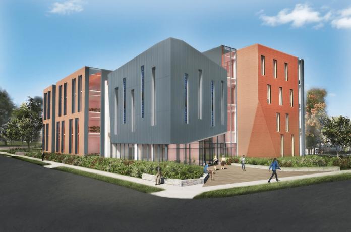 artist's rendering of the new SCSU School of Business