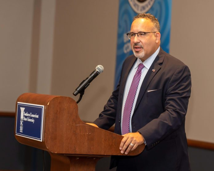 U.S. Secretary of Education Miguel Cardona at the 12th annual Empowering Lives event